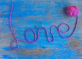 Palavra amor — Fotografia Stock