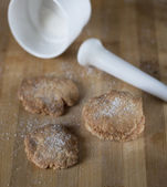 Homemade cookies sprinkled with sugar — Stock Photo