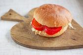 Vegetarische hamburger — Stockfoto
