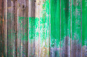 Hintergrund - vertikale holz brett mit grünen fleck — Stockfoto