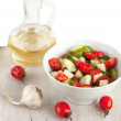 Salad and sunflower oil — Stock Photo