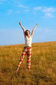 Beautiful happy woman outdoors — Foto de Stock