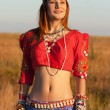Portrait very beautiful Gipsy — Stock Photo