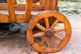 Wooden wheel on wooden carts  — Stock Photo
