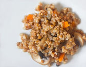 Lenten dish - buckwheat with mushrooms — Stock Photo