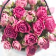 Beautiful pink roses small top view — Stock Photo #43662917