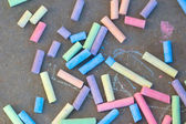 Colorful chalk drawing  — Stock Photo