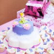 Royalty-Free Stock Photo: Decorated birthday cake for a little girl