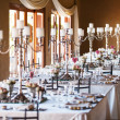 Hall at a wedding with decorated tables — Stock Photo