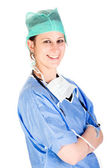 Young attractive female healthcare professional — Stock Photo