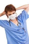 молодых кавказских женский медицинский ассистент — Стоковое фото
