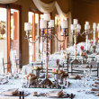 Stock Photo: Wedding reception hall with decoarated tables