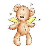Teddy bear with wings — Stock Photo