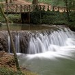 Waterfall at the Monasterio de Piedra Natural Park, Zaragoza, Spain — Foto de Stock