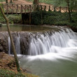 Waterfall at the Monasterio de Piedra Natural Park, Zaragoza, Spain - Stock Photo