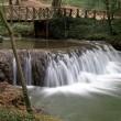 Waterfall at the Monasterio de Piedra Natural Park, Zaragoza, Spain — Stock Photo