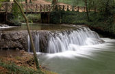 Waterfall at the Monasterio de Piedra Natural Park, Zaragoza, Spain — Stock Photo