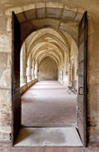 Bourg-en-Bresse (Ain, Rhone Alpes, France), Cloister of the ancient church of Brou — Stock Photo