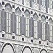 Wrapped palace with traditional baroque facade, Turin (Piazza San Carlo) — Stock Photo