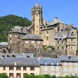 Estaing village in Southern France, landscape view - Stock Photo