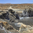 Plano de El Mojon, rock formations near Teguise, Lanzarote, Canary Islands — Stock Photo