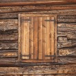 Alpine wooden window — Stock Photo