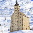 The old Simplon Hospice, Simplon Pass — Stock Photo