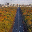 Berlin in Autumn, shot from Siegessaule — Stock Photo