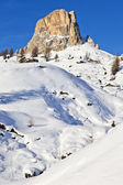 View of the Nuvolau at Giau pass at the Dolomite Alps — Stock Photo
