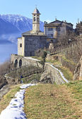 Madonna della Sassella sanctuary, Sondrio, Valtellina — Stock Photo