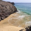 Beautiful empty El Papagayo small beach in late afternoon sunshine, Lanzarote,Canary Islands — Stock Photo #22477363