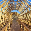 Stock Photo: Wooden structure in Haus der Kulturen der Welt, Berlin