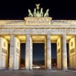 Brandenburg Gate (Brandenburger Tor) night shot, Berlin — Stock Photo
