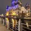 Berliner Dom at night, Berlin — Stock Photo