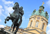 Charlottenburg Palace, monument to the Elector Friedrich III, Berlin — Stock Photo