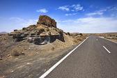 Plano de El Mojon, rock formations near Teguise, Lanzarote, Canary Islands — Stock Photo