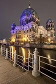 Berliner dom di notte, berlino — Foto Stock