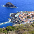 Garachico town viewscape on the coast of Tenerife, Canary Islands - Stock Photo