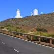 Telescopes of the Teide Astronomical Observatory in Tenerife, Spain — Stock Photo