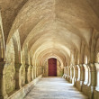 Постер, плакат: Old colonnaded closter in the Abbaye de Fontenay in Burgundy