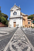 Church of Saint Ambrose in Zoagli, eastern riviera, Liguria, Italy — Stock Photo
