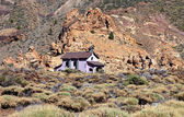 A view of the Shrine of Virgen de Las Nieves in Teide National Park, Canary Islands — Stock Photo