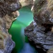 Turquoise creek in Mis Valley, Sospirolo, Italy — Stock Photo