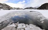 Sankt Moritz view from the frozen lake, Switzerland — Stock Photo