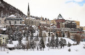 View of St. Moritz during winter, Switzerland — Foto de Stock