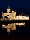 The basilica du Sacre Coeur in Paray-le-Monial, France, night shot — Stock Photo