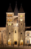 De basiliek du sacre coeur in paray-le-monial, night shot — Stockfoto