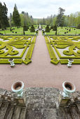 Garden viewscape of Dree castle in Curbigny, Bourgogne, France — Stock Photo
