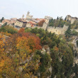 Rocca della Guaita, the most ancient fortress of San Marino, autumnal landscape - Stock Photo