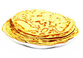 Pancakes - a traditional dish — Stock Photo